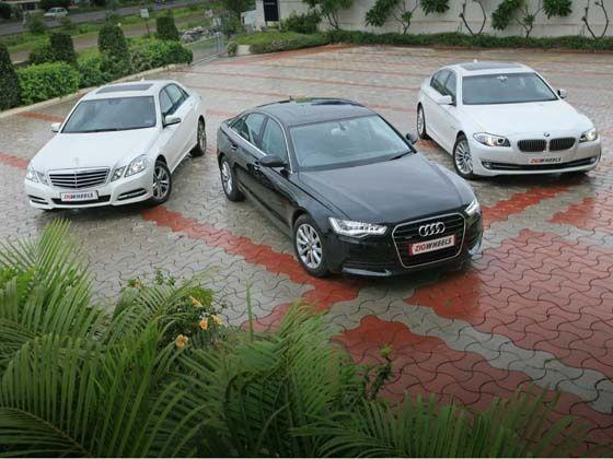 New Audi A6 Vs Bmw 5 Series Vs Mercedes E Class Comparison Zigwheels