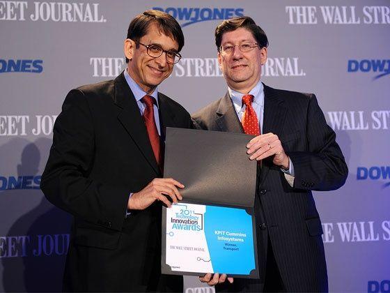 KPIT Cummins Honoured with Wall Street Journal Award