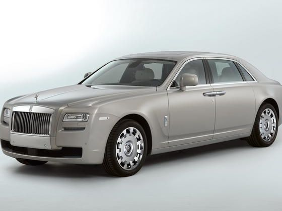 Rolls Royce Ghost Extended Wheelbase front three quart