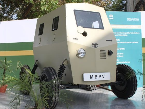 Tata motors defence micro bullet-proof vehicle MBPV