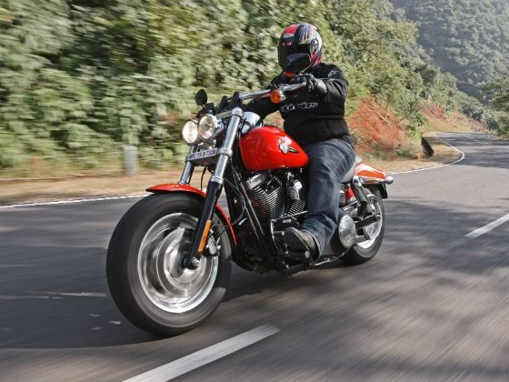 Harley-Davidson Fat Bob in action