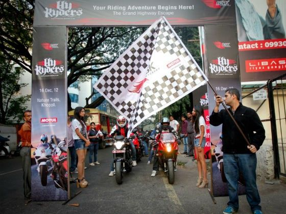 The event being flagged off from Pune
