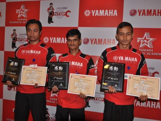 Winners of Yamaha National Technician Grand Prix 2012