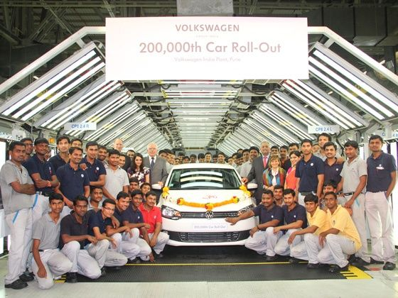 Volkswagen Vento rolls out its 200,000th car