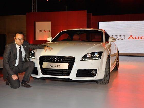 Audi India Head Michael Perschke    at the Audi TT launch in Mumbai
