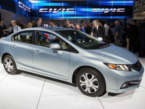 Honda Civic 2013 LA Auto Show exterior silver