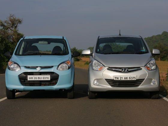 Image result for Maruti Alto 800 व Hyundai Eon