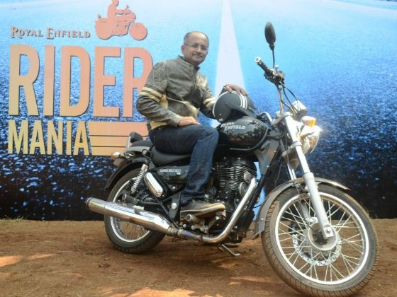 Venki Padmanabhan at Royal Enfield Rider Mania 2012
