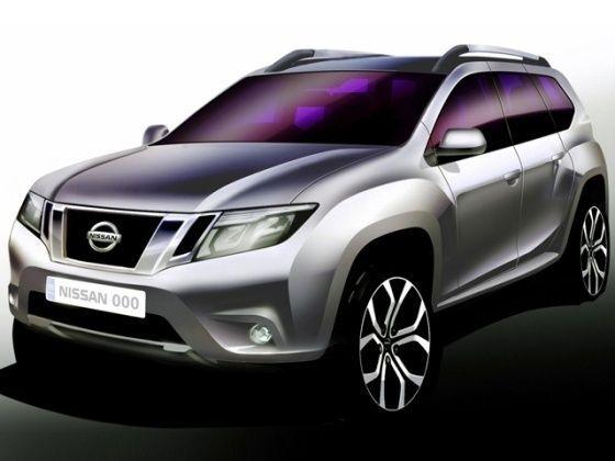 Nissan Terrano compact SUV sketch