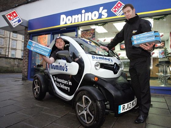 Renault Twizy joins Dominos pizza delivery service