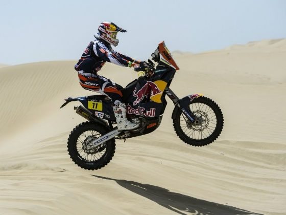 Ruben Faria in action at 2013 Dakar Rally