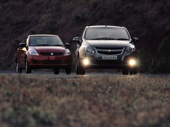 Chevrolet Sail U-VA diesel versus the Maruti Suzuki Swift diesel