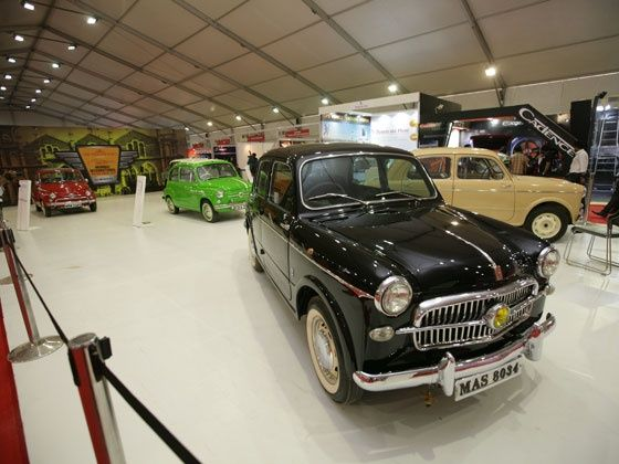 Vintage Fiats at the 2013 Mumbai International Motor Show