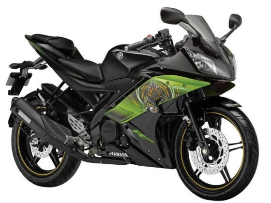 Yamaha R15 Version 2.0 in thundering green special edition livery