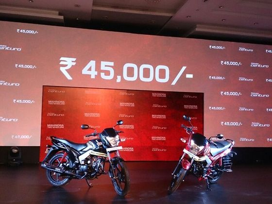 Mahindra Centuro launched at Rs.45,000