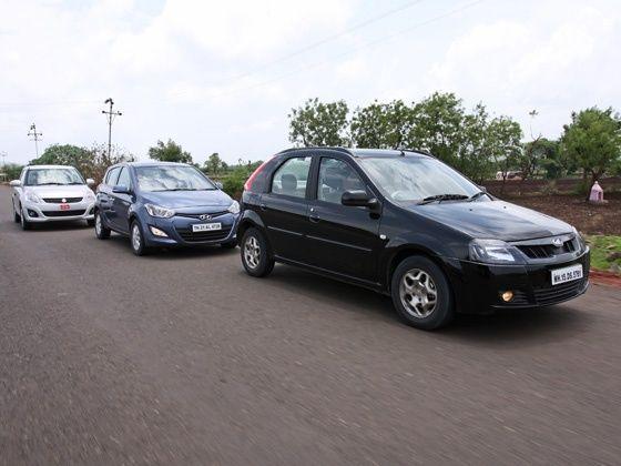 Mahindra Verito Vibe vs Hyundai i20 vs Maruti Swift DZire : Comparison
