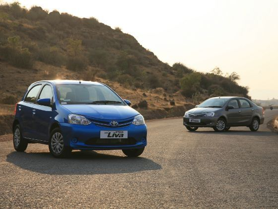 New Toyota Etios and Liva static