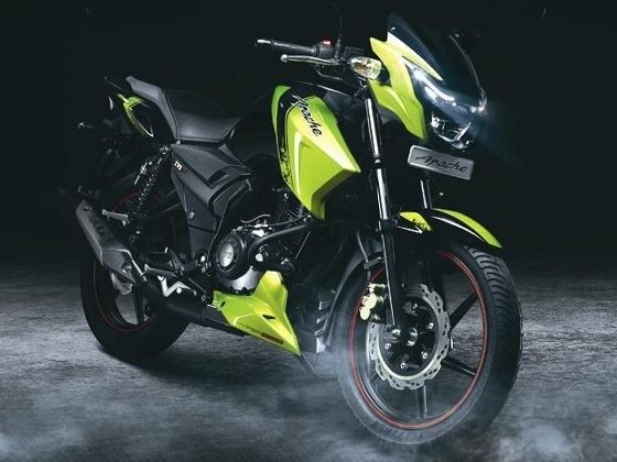 TVS Apache crosses 1 million sales figure