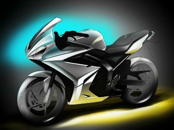 Triumph  250cc motorcycle sketch