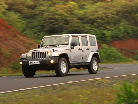 Jeep Wrangler Sahara action shot