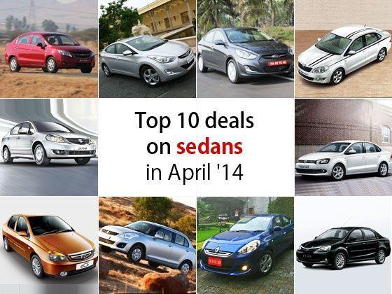 Top 10 deals on sedans in April 2014