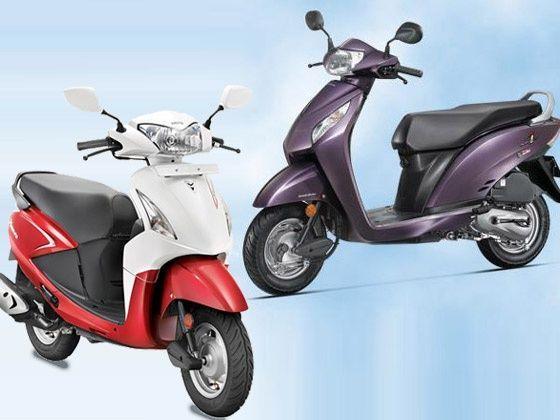Tvs Scooty Zest Vs Yamaha Ray Honda Activa I And Hero Pleasure