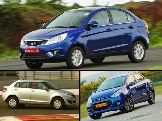 Tata Zest, Maruti Suzuki Swift Dzire and Hyundai Xcent