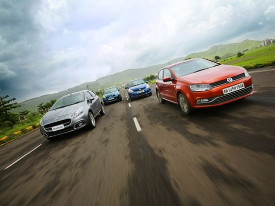 Fiat Punto Evo vs Volkswagen New Polo vs Maruti Suzuki Swift