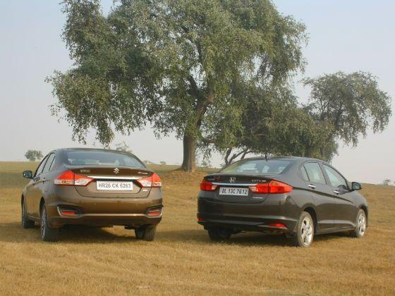 Maruti Ciaz vs Honda City Diesel Comparison Review - ZigWheels