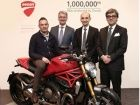 Ducati crosses the 1 million mark
