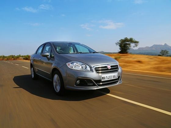 2014 New Fiat Linea in action
