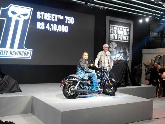 Harley-Davidson Street 750 launch pic