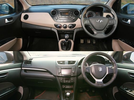 Hyundai grand i10 vs maruti suzuki swift comparison for Swift vxi o interior