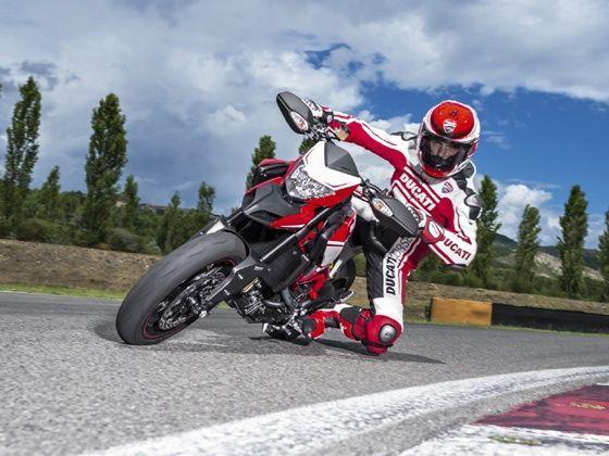 2015 Ducati Hypermotard SP Corse action shot