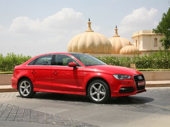 Audi A3 red car static