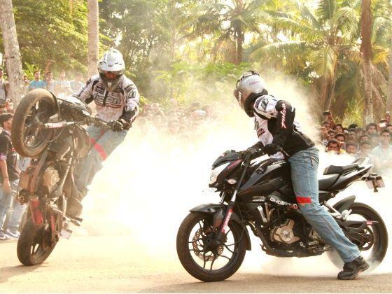 Stunt riders at Pulsar Mania