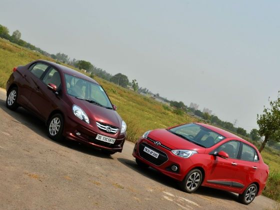Hyundai Xcent vs Honda Amaze petrol comparison