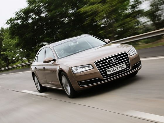 2014 Audi A8L India review front design