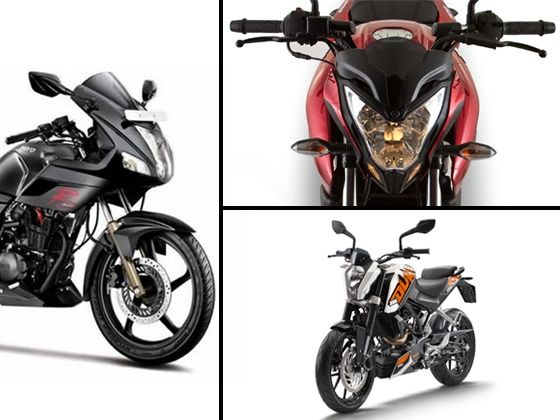 2014 Hero Karizma R, KTM 200 Duke and Bajaj Pulsar 200NS