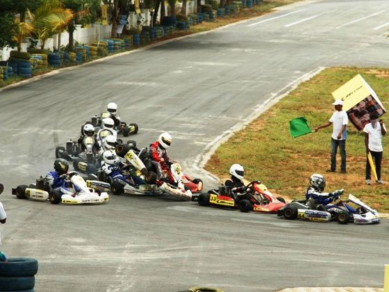 2014 JK Tyre National Karting Championship Round 1 action shot