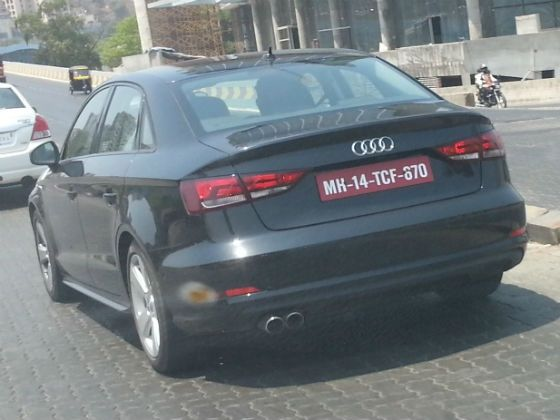 Audi A3 rear spy pic