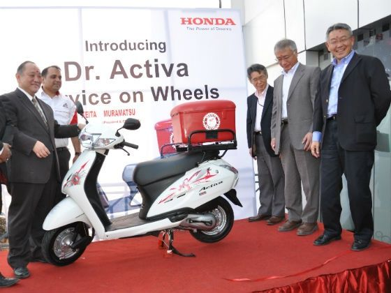 Honda officials inaugaurate the Service on Wheels initiative