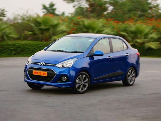 Hyundai Xcent front action shot