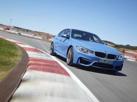 2014 BMW M3 action shot