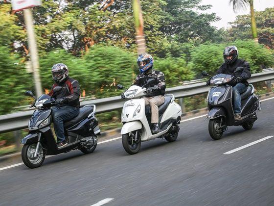 Mahindra Gusto vs Honda Activa vs TVS Jupiter