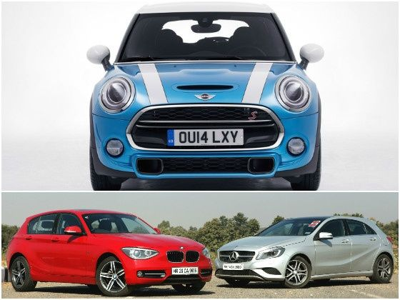 Mini 5 Door Cooper D Vs Bmw 118d Mercedes A180 Cdi