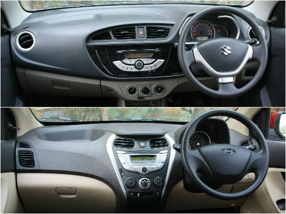 New maruti alto k10 vs hyundai eon 1 0 comparison review for Interior decoration of maruti 800