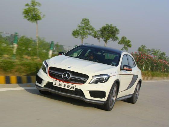 Mercedes benz gla 45 amg review zigwheels for Garage mercedes gap