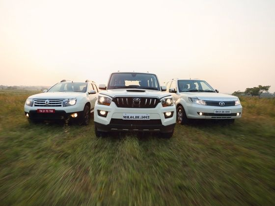 Duster AWD, Scorpio and Safari Storme in action