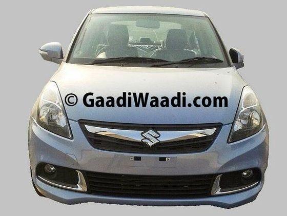 2015 Maruti Suzuki DZire facelift front with new chrome grille